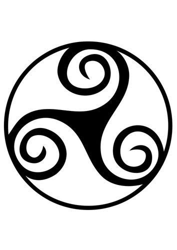 Dibujo para colorear símbolo celta - trisquel   símbolos   Pinterest ...