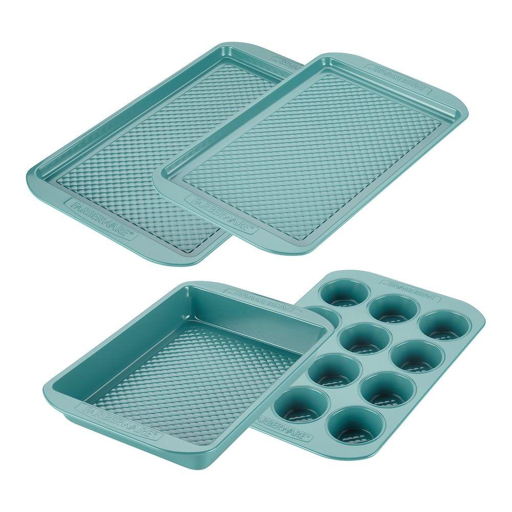 Farberware Purecook 4 Pc Nonstick Ceramic Bakeware Set Ceramic