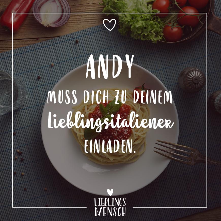 Visual Statements Andy Muss Dich Zu Deinem