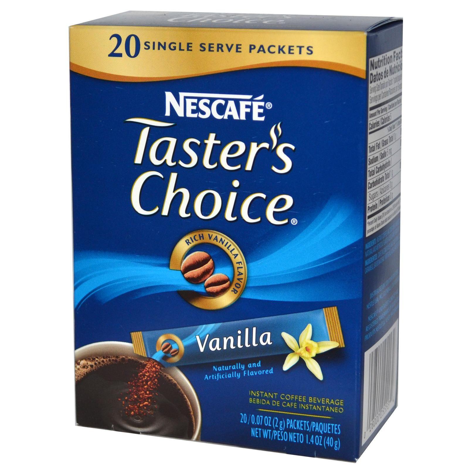 Nescafé, Taster's Choice, Instant Coffee Beverage, Vanilla