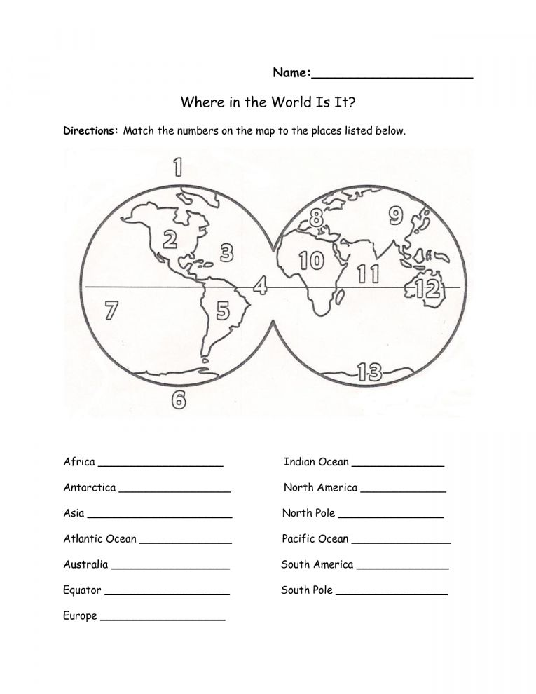 10 7 Continents Worksheet 1st Grade Grade Printable Sheets Com In 2020 Continents And Oceans Social Studies Worksheets Geography Worksheets