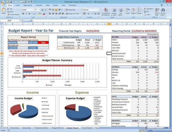 Personal Finances Excel Template 1213 personal finances