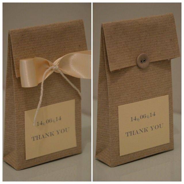 diy brown paper favour bags beach engagement party pinterest