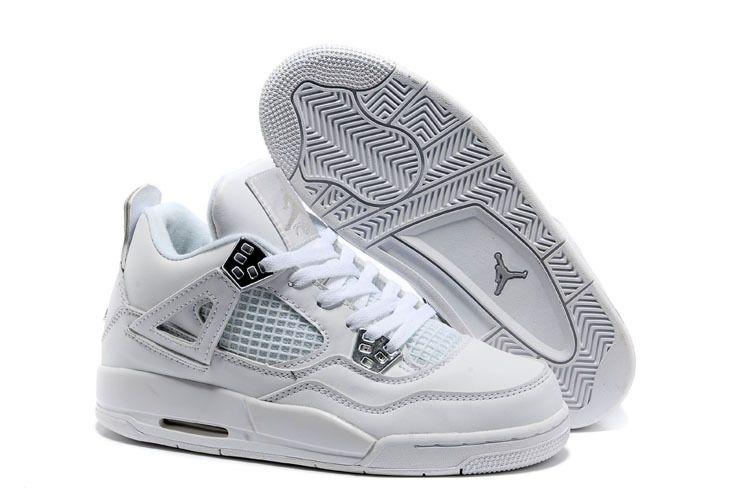 All White Jordan Basketball Shoes Women\\\\\\\u0027s Nike Air Jordan 4 Retro Buy
