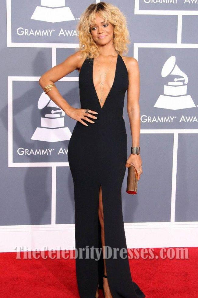 cc3e6645e859 Rihanna Sexy Prom Gown Evening Dress 2012 Grammy Awards Red Carpet -  TheCelebrityDresses