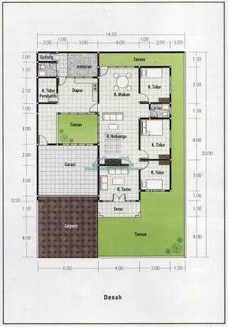 Pin by kopral bim on denah rumah pinterest future house house house design future house house plans blueprints for homes house floor plans malvernweather Gallery