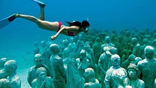 'The Silent Evolution' by Jason deCaires Taylor is comprised of 400 permanent sculptures in Mexican waters.