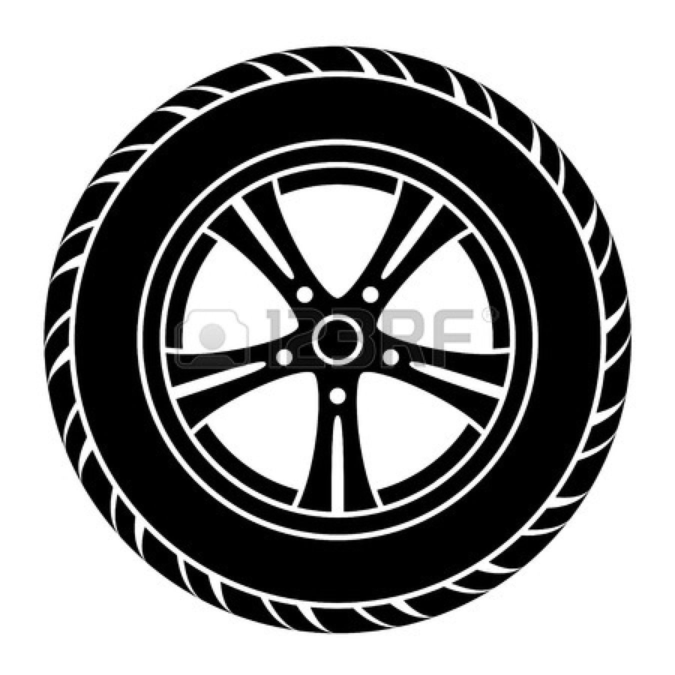 Black Silhouette Automotive Wheel With Alloy Wheels And Tires Car Wheel Wheels And Tires Wheel