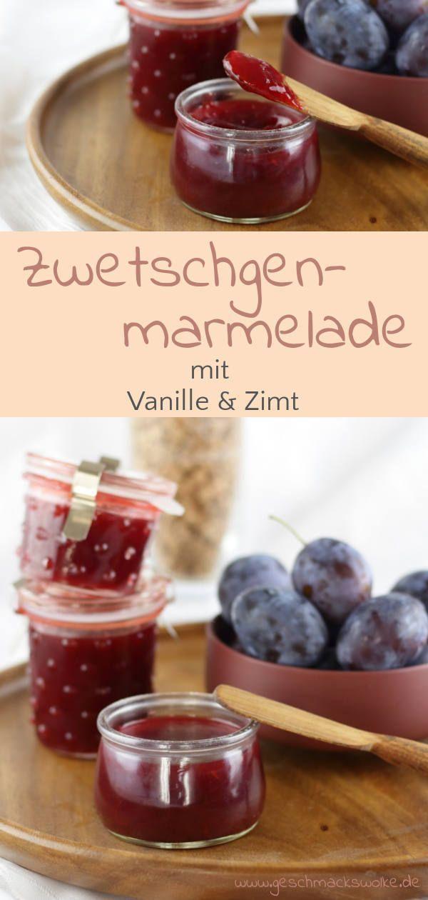 Süßes Herbst-Frühstück - Zwetschgenmarmelade mit Vanille & Zimt - #zwetschgenmarmelade #zwetschgen #marmelade #frühstück #pflaumen #pflaumenmarmelade #küchengeschenk #eingekochtes #brunch