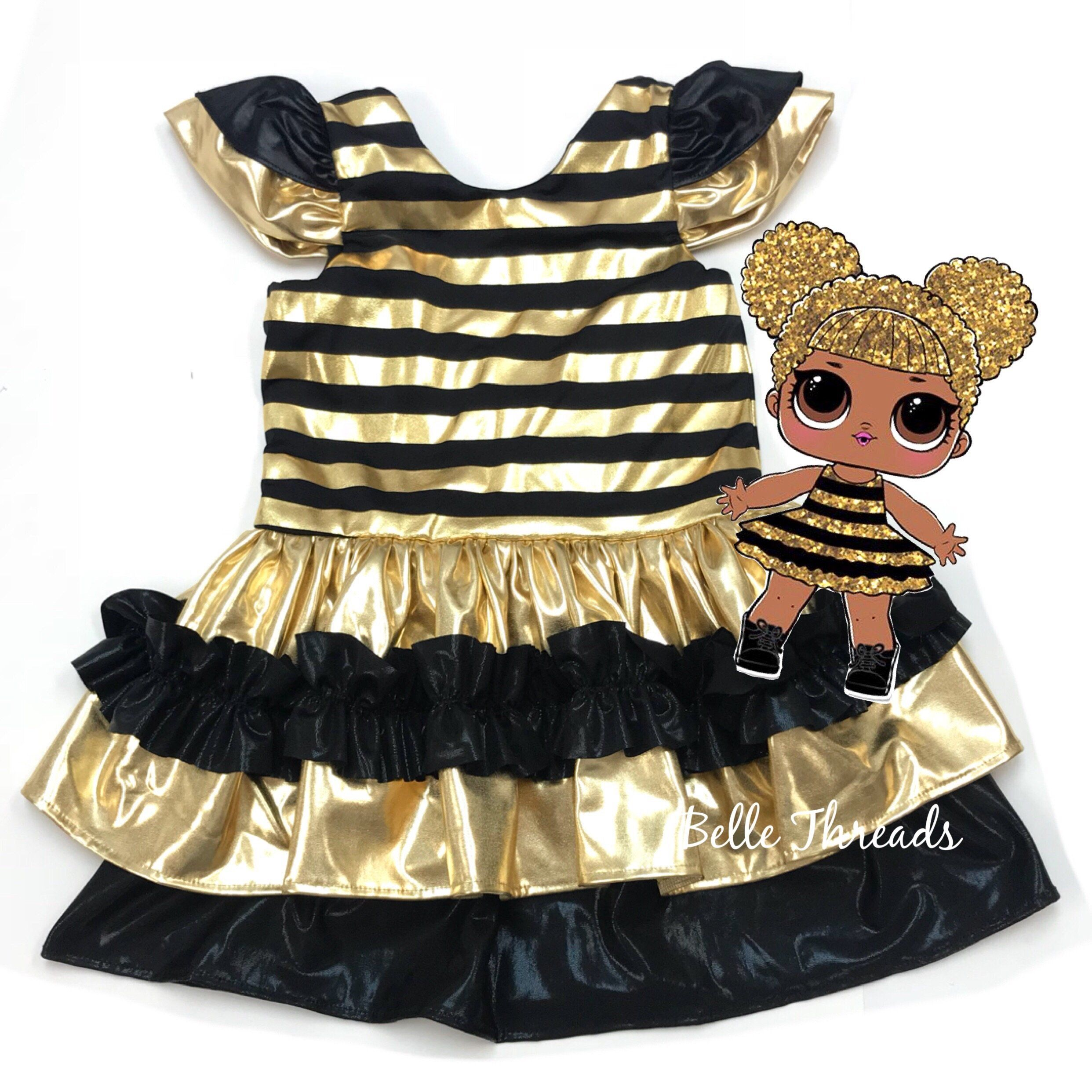 Queen Bee Costume Lol Dolls Dress Queen Bee Costume Bee Costume Lol Dolls