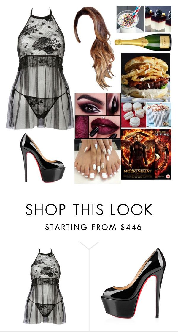 """""""Untitled #1729"""" by the-wanted-potato ❤ liked on Polyvore featuring La Perla and Christian Louboutin"""