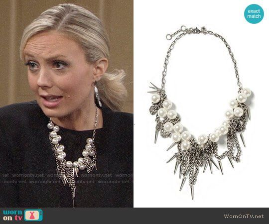 498085b666f Abby s pearl necklace on The Young and the Restless. Outfit Details  https