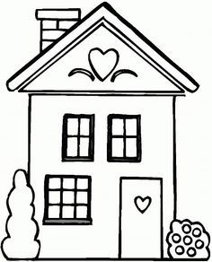 Easy House Coloring Pages For Preschoolers