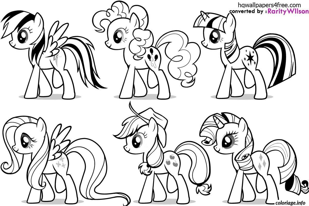 Coloriage my little poney 6 dessin imprimer coloriage - Coloriage en ligne facile ...