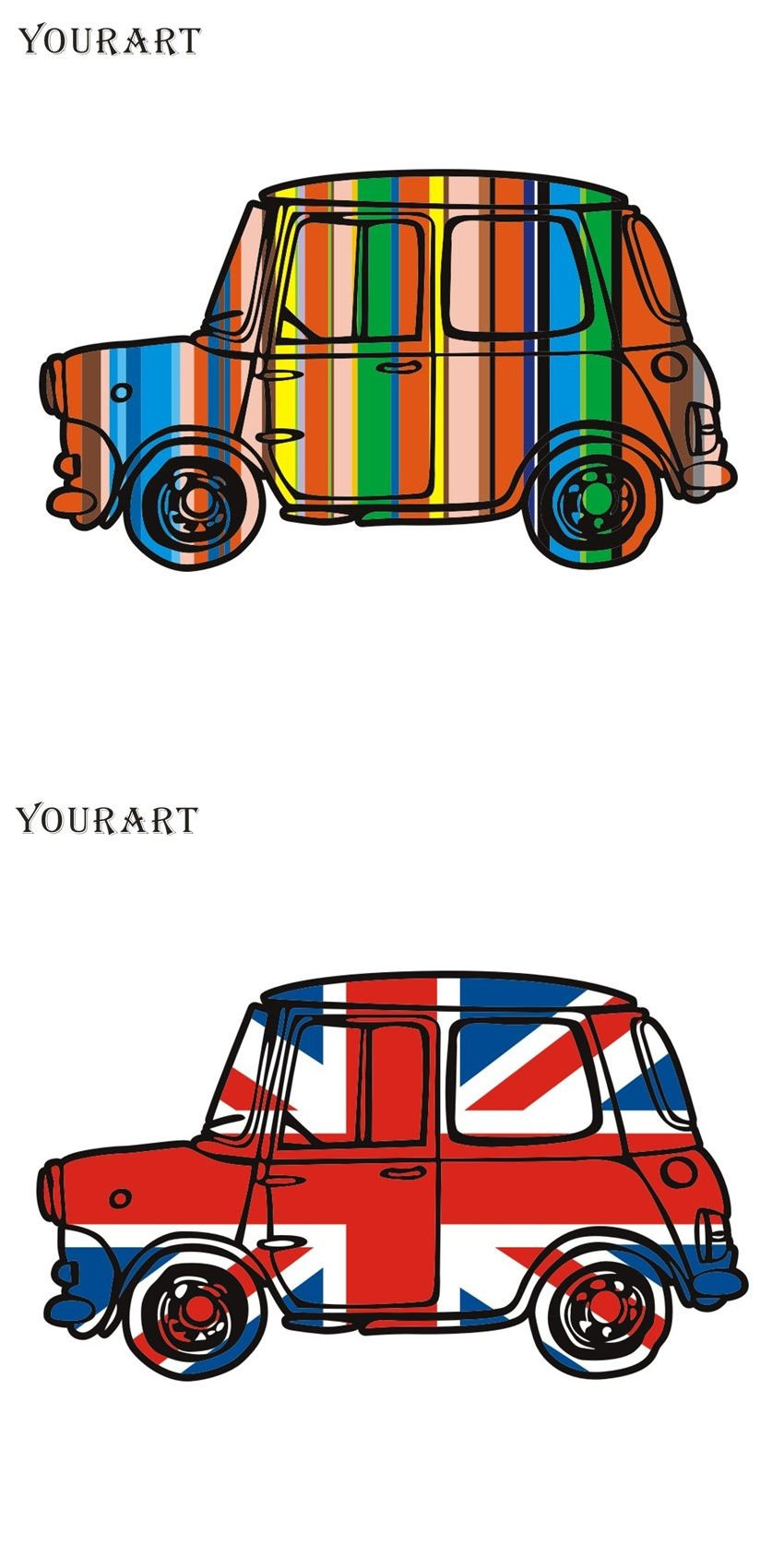 Yourart Vinyl Car Stickers And Decals For BMW Mini Cooper S Countryman  Accessories Vintage UK Flag
