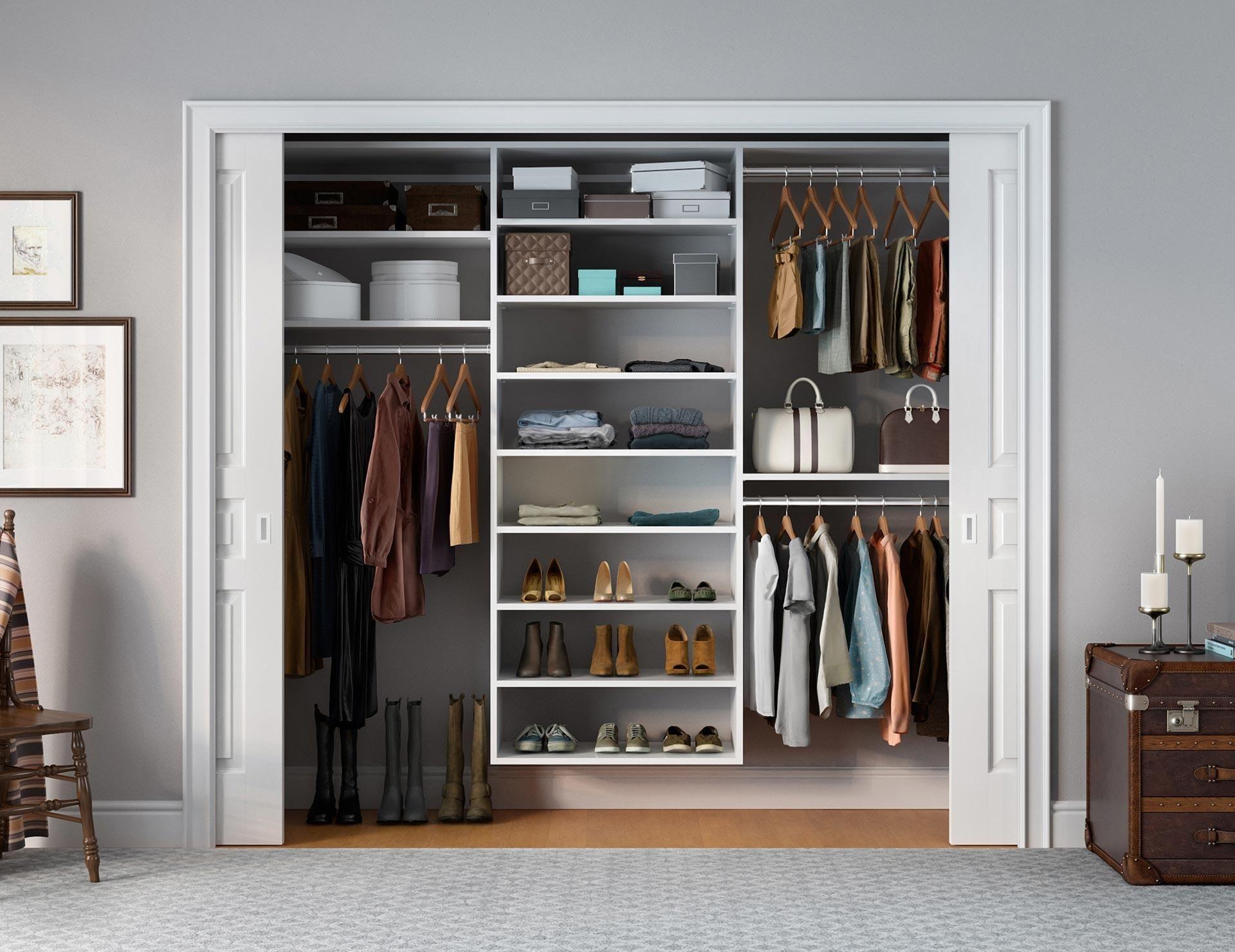 Reach In Closet Systems Closet De Pared Diseno De Armario