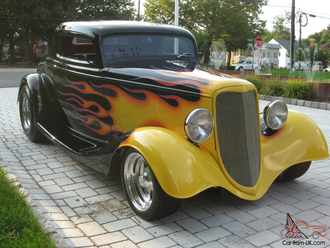 Street Rod Flames | 1933 FORD 3 WINDOW COUPE / STREET ROD/ BLACK ...