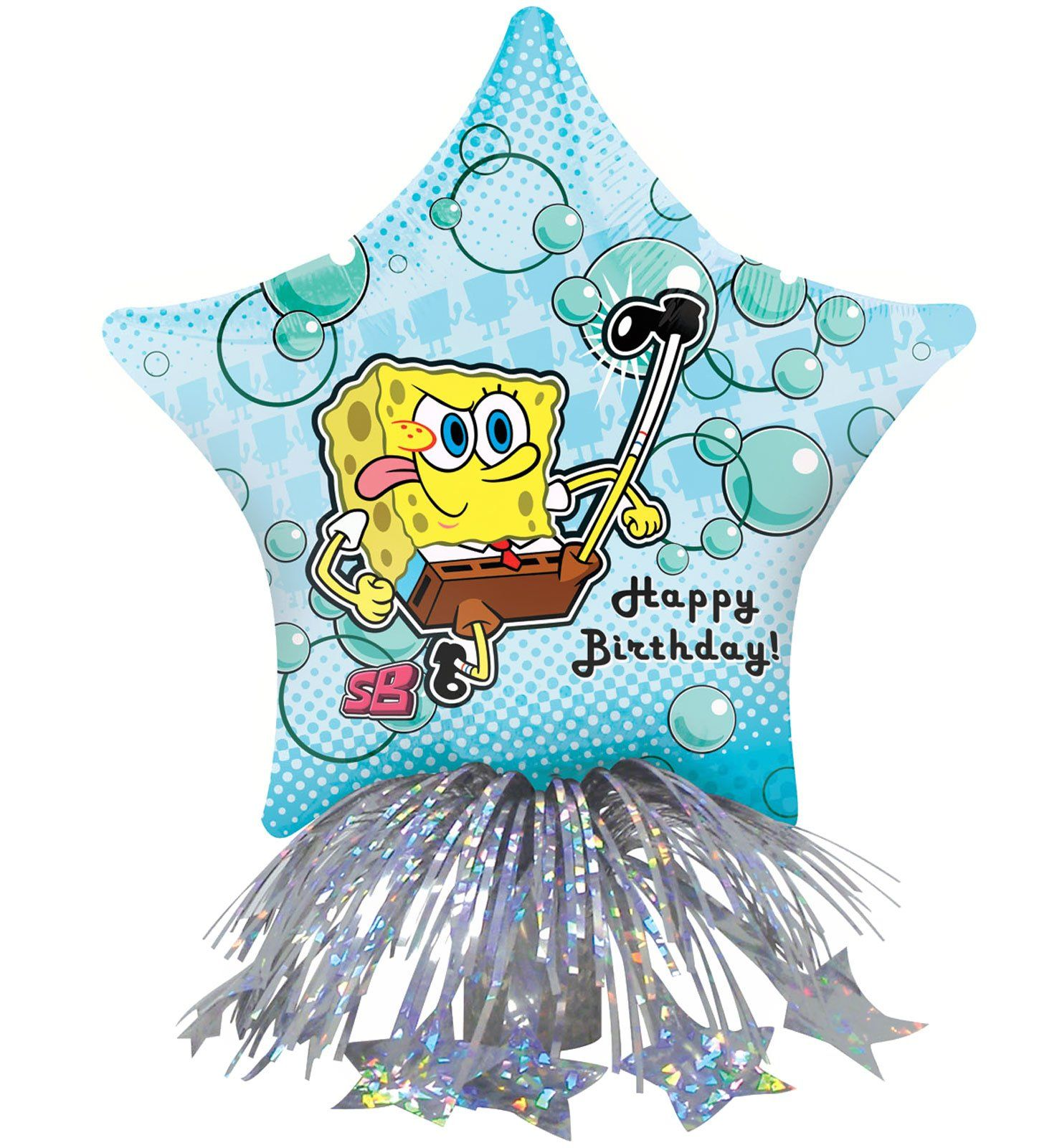 SpongeBob Birthday Star Balloon Centerpiece