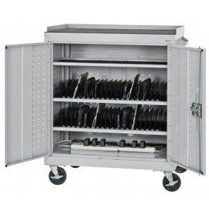 Tablet Ipad Storage Cart With A C Charging System Slp 37ac Laptop Ipad Carts Storage Cart Sandusky Cabinets Craft Storage Cart