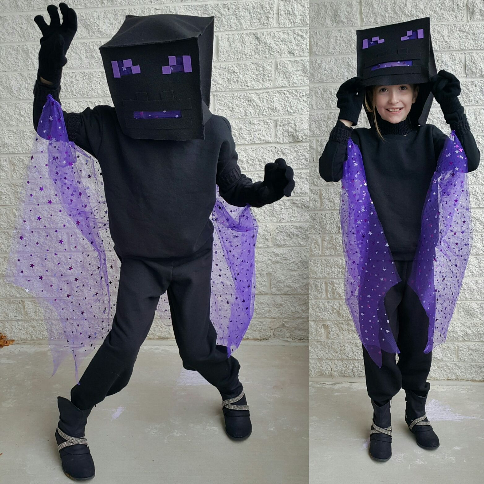 Child dressed as the Ender Dragon from Minecraft ...