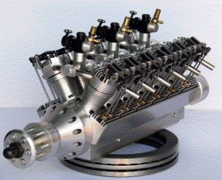 Mini V12 RC car engine produces not-mini power | Engineering