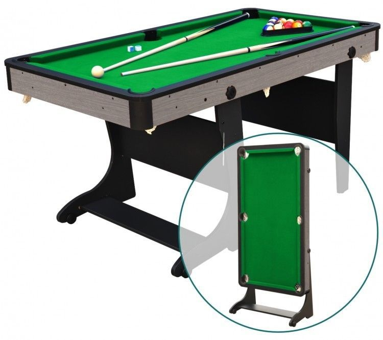 Billiard Table 5 Folding For Easy Storage With All Accessories Needed To Play Airzone Billiard Pool Table Diy Pool Table Folding Pool Table
