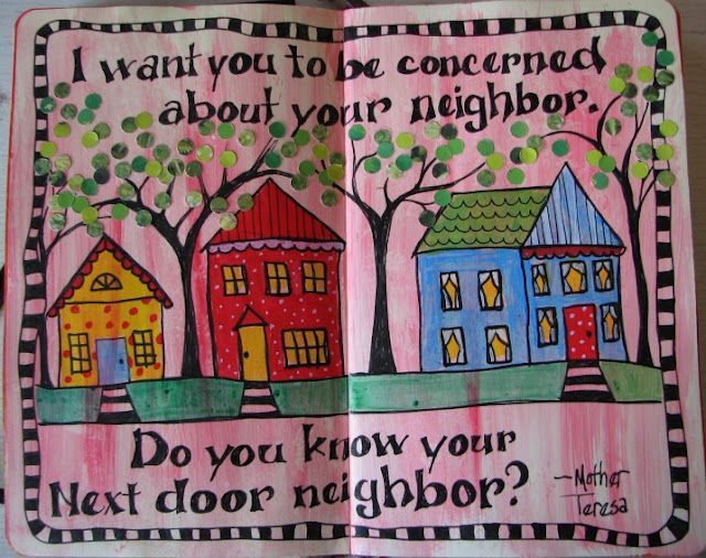 Neighbor Art Journal Art Journal Pages Cute Quotes