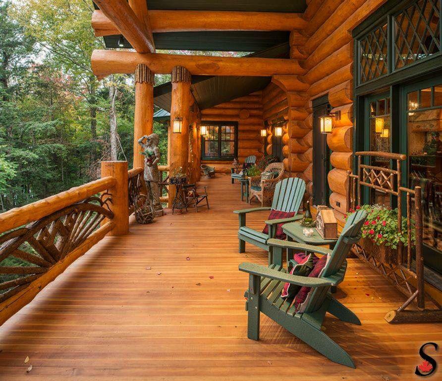 Log Cabin Homes, Log Home Kitchens, Cabin Porches