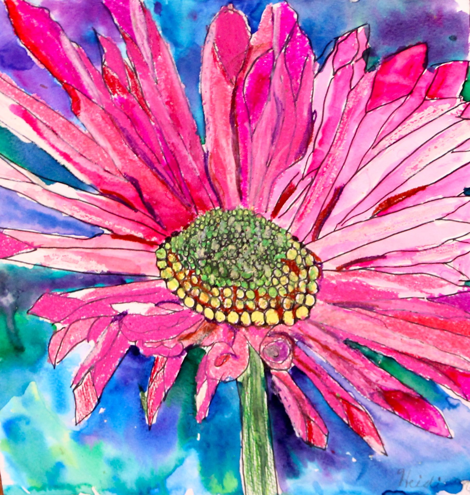 Watercolor Oil Pastel 3rd Grade