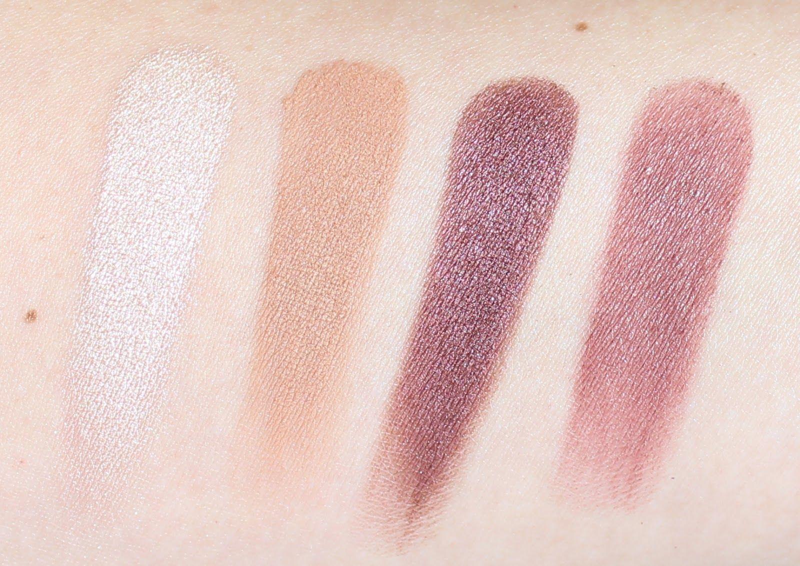 Makeup Geek Eye Shadow Quad Swatches Warm Tones Makeup