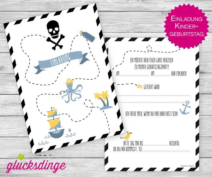 6 x einladung ♥ kindergeburtstag ♥ schatzkarte | schatzkarten, Einladungen
