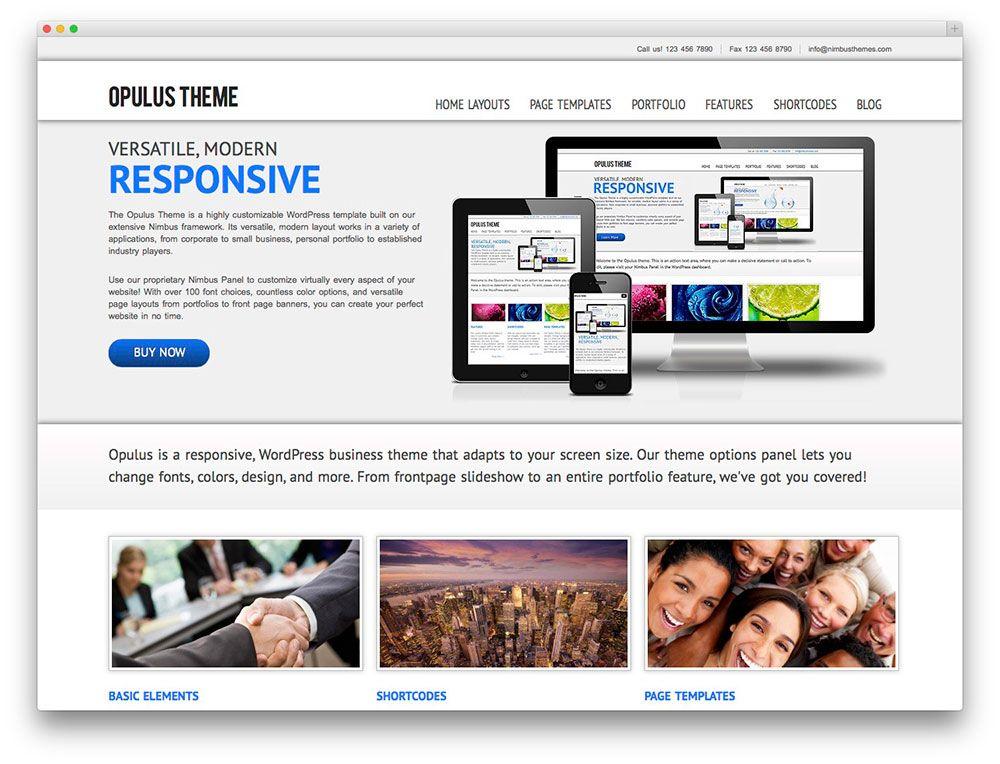 Opulus WP Theme   Wordpressteman   Pinterest   Wordpress