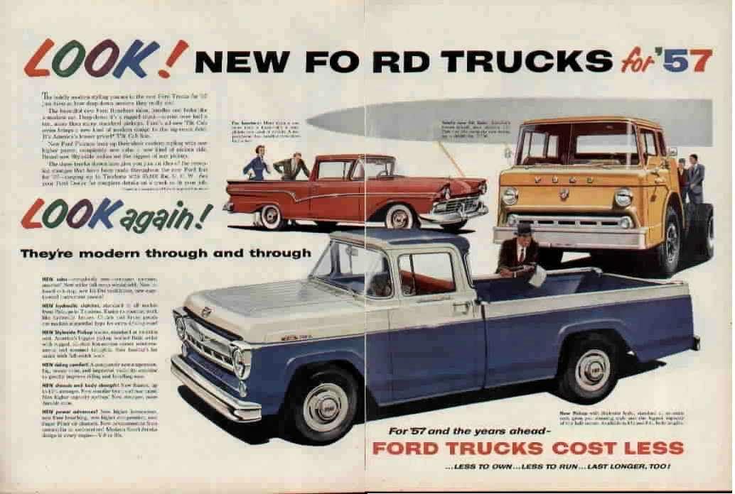 1957 Ford Truck Ad & 1957 Ford Truck Ad | Trucks | Pinterest | Ford trucks Ford and Cars markmcfarlin.com
