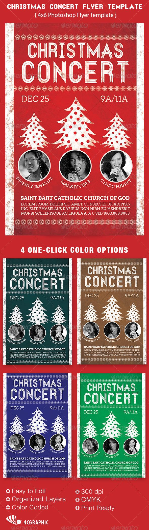 Christmas Concert Flyer Template 6.00 Christmas