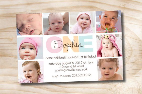 BOLD BIRTHDAY First Birthday Party Event Printable Invitation One Year Old Boy Girl