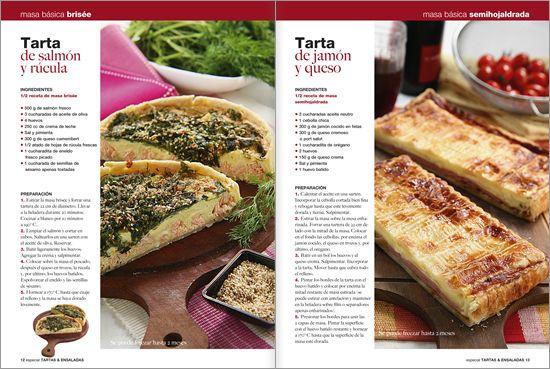 Tartas y ensaladas  Nº 01 - 2011 pedila en www.eviaediciones.com