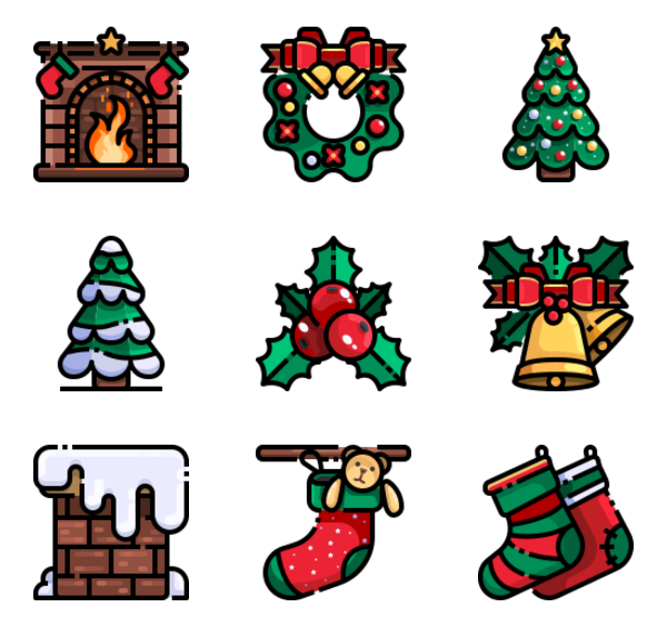 27 premium vector icons of Christmas Day designed by