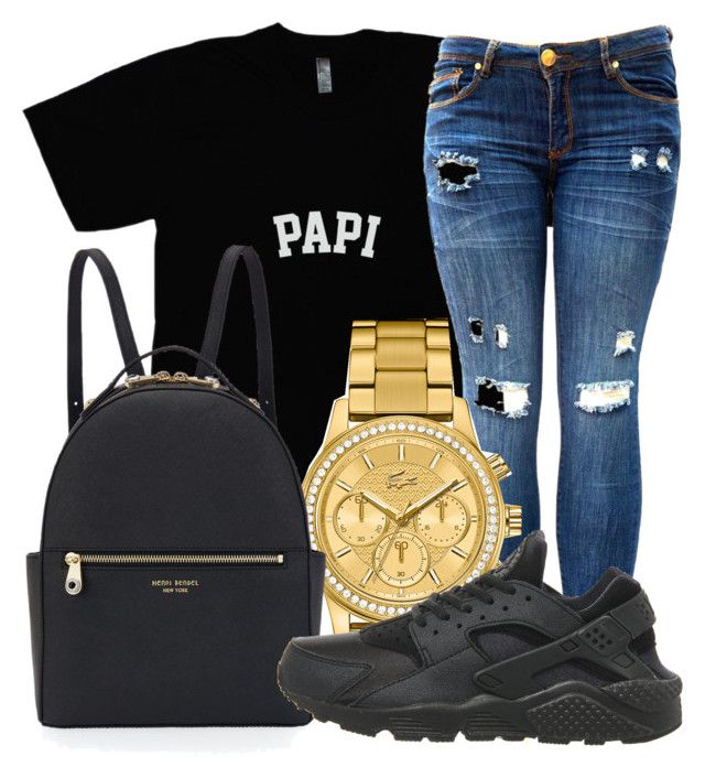 """""""Untitled #6"""" by high-off-life ❤ liked on Polyvore featuring Lacoste, Henri Bendel and NIKE"""