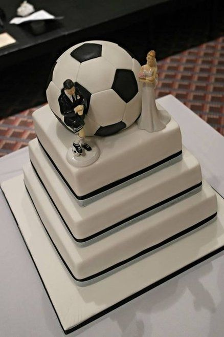 Soccer Themed Wedding Cake The Ball Is Cake Too Cakes