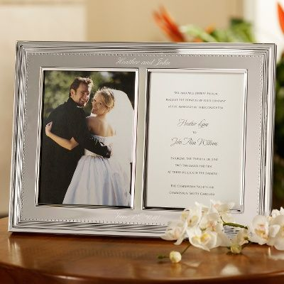 I Like The Idea Of Framing The Invitation Next To A Wedding Picture