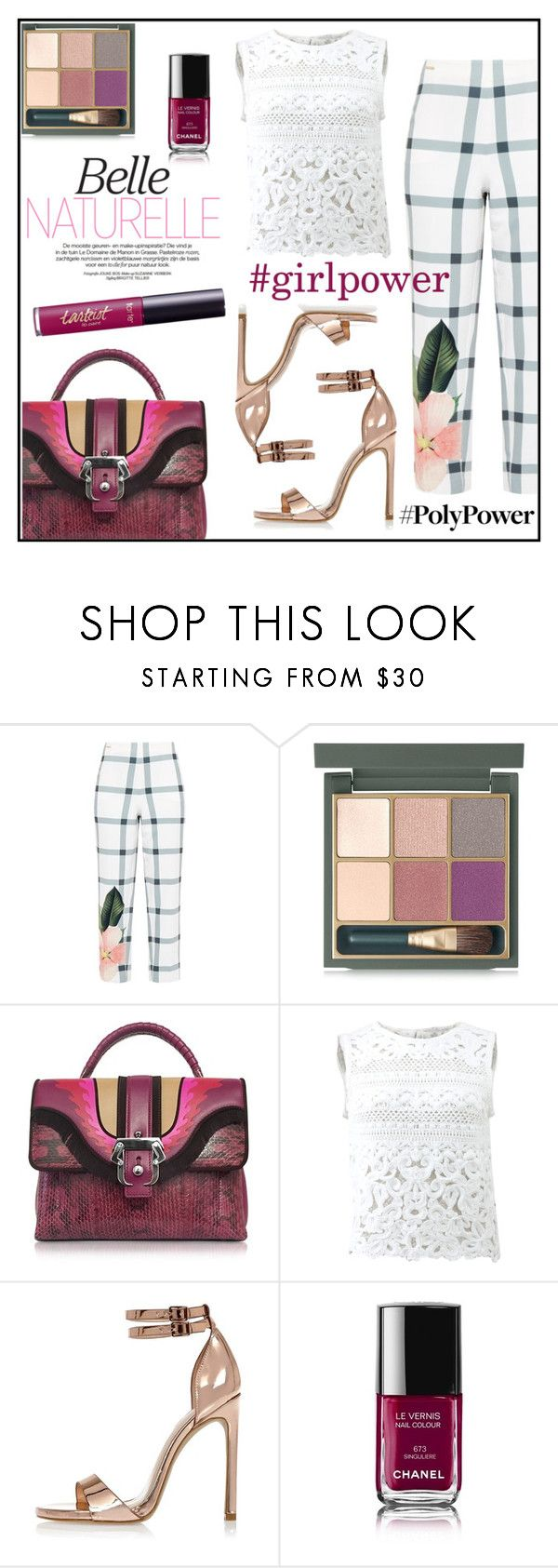 """Empowered"" by anchilly23 ❤ liked on Polyvore featuring Ted Baker, MAC Cosmetics, Paula Cademartori, Ermanno Scervino, River Island, Chanel and tarte"