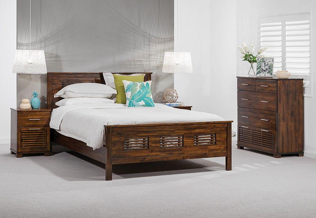 Madang 4 Piece Tall Chest Queen Bedroom Suite Super Amart