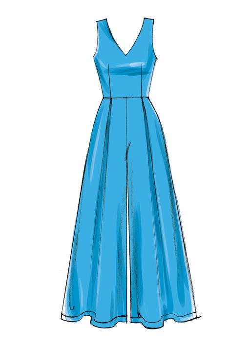 McCall\'s sewing pattern M7608: Misses\' V-Neck Lined Sleeveless ...