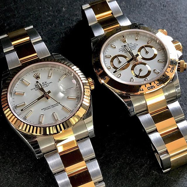 White affaires ... DATEJUST 41 Ref 126333 DAYTONA Ref 116503 ...  0f07cd725b