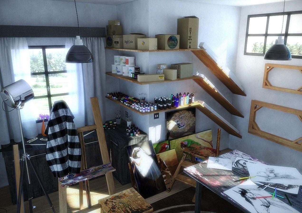 5 Stunning Art Studio Design Ideas For Small Spaces Freshouz Com Hobby Room Design Art Studio At Home Room Design