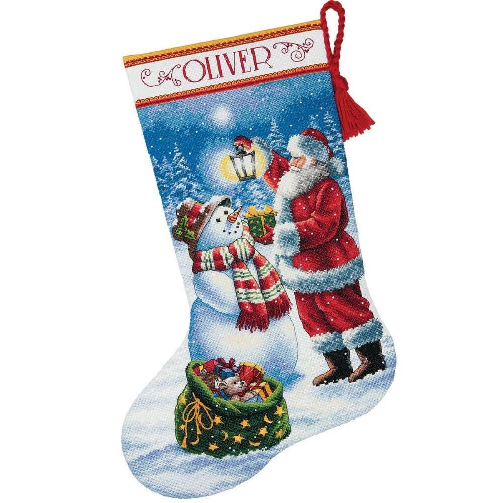 Dimensions® Holiday Glow Stocking Kit Cross stitch kits