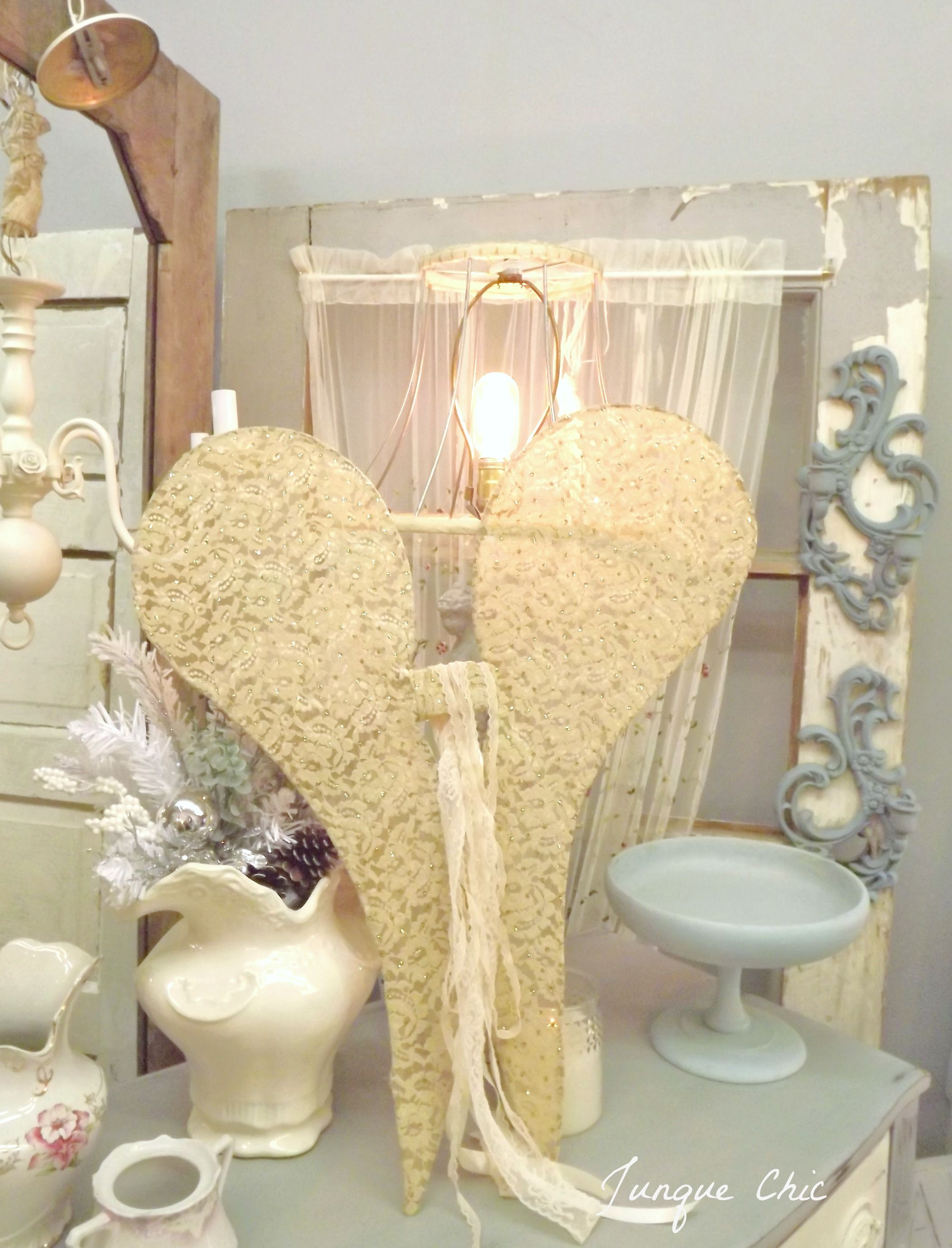 Handmade wire angel wings from Junque Chic. | lace wings | Pinterest ...
