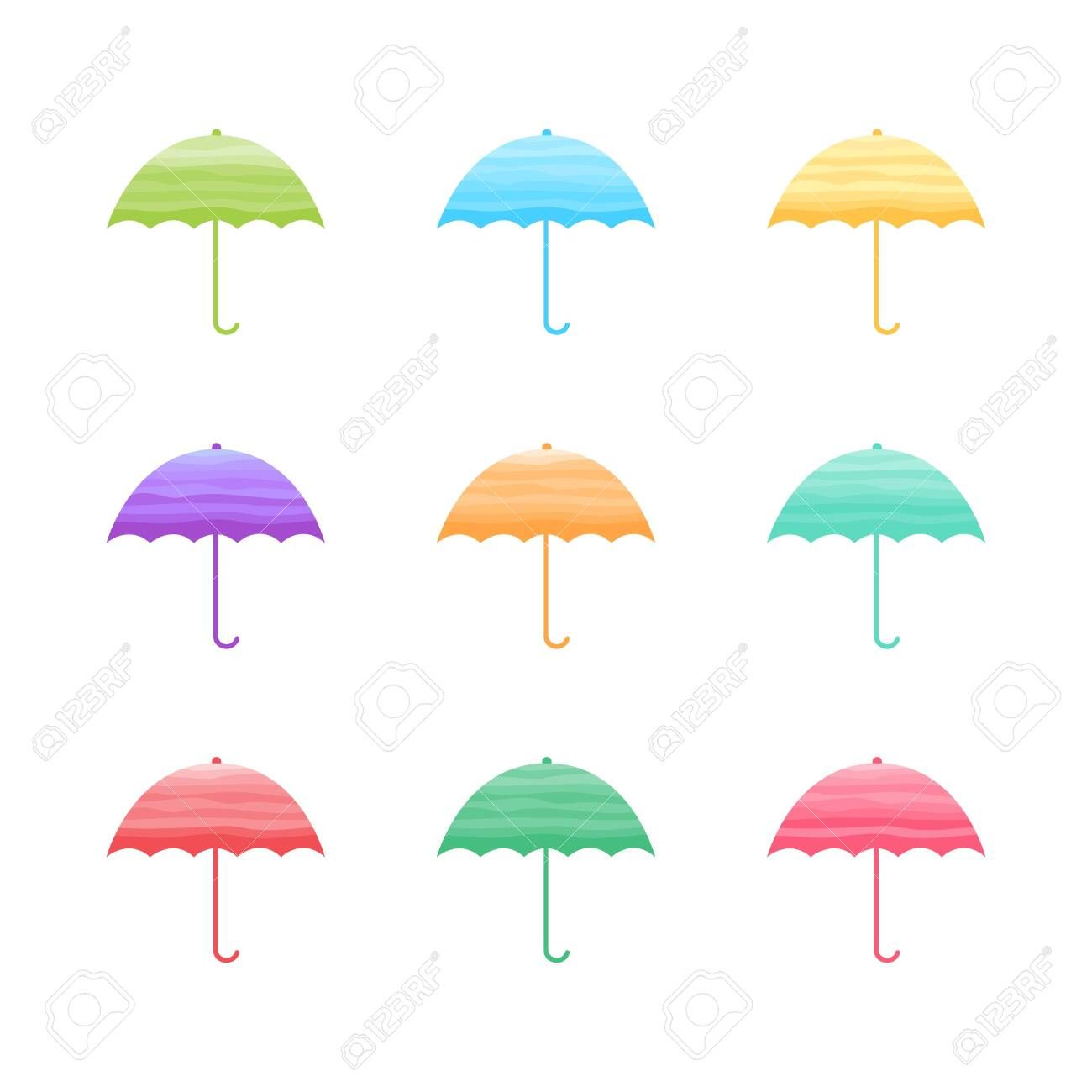 Set of cute umbrellas isolated on white background. vector illustration , #Aff, #umbrellas, #isolated, #Set, #cute, #vector #cuteumbrellas