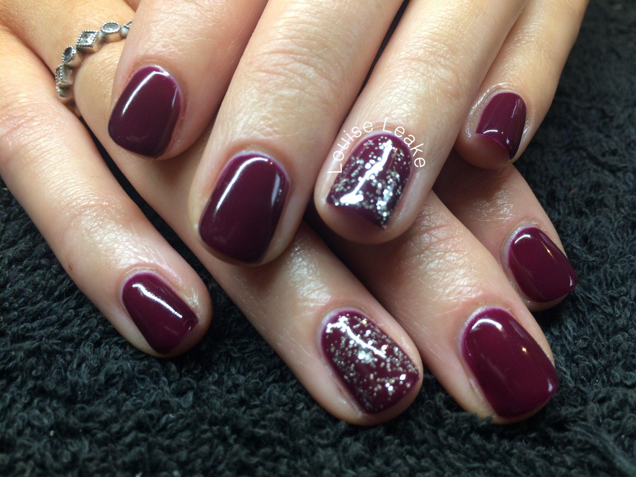 Burgundy gel nails | Nails | Pinterest | Shellac nails, Shellac nail ...