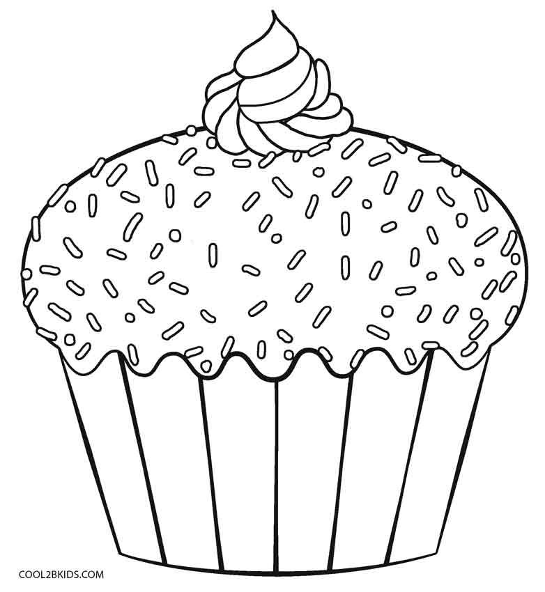 free printable cupcake coloring pages for kids cool2bkids - Cupcakes Coloring Pages Printable